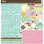 Jillibean Soup - Southern Chicken Dumpling Soup Collection - 12 x 12 Cardstock Stickers