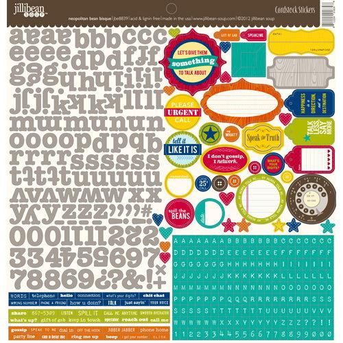 Jillibean Soup - Neopolitan Bean Bisque Collection - 12 x 12 Cardstock Stickers