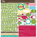 Jillibean Soup - Coconut Lime Soup Collection - 12 x 12 Cardstock Stickers