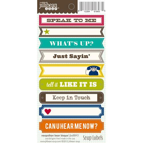 Jillibean Soup - Neopolitan Bean Bisque Collection - Cardstock Stickers - Soup Labels