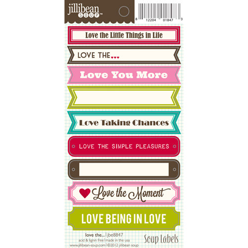 Jillibean Soup - Cardstock Stickers - Soup Labels - Love the…