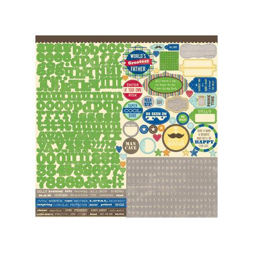 Jillibean Soup - Macho Nacho Soup Collection - 12 x 12 Cardstock Stickers