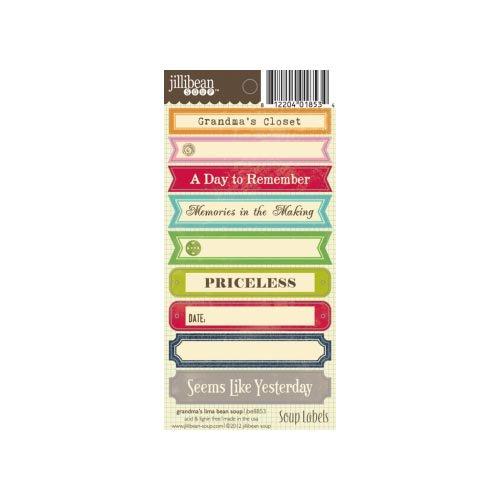 Jillibean Soup - Grandma's Lima Bean Soup Collection - Cardstock Stickers - Soup Labels