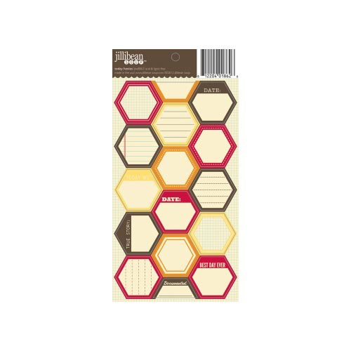 Jillibean Soup - Cardstock Stickers - Hexagon - Today