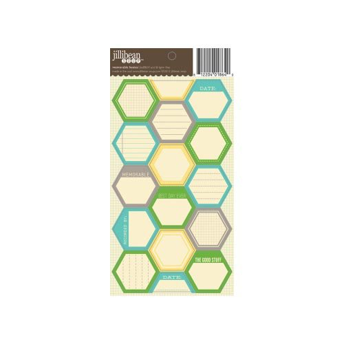 Jillibean Soup - Cardstock Stickers - Hexagon - Memorable