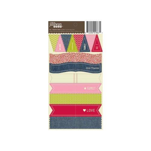 Jillibean Soup - Cardstock Stickers - Banner Bites - No. 1