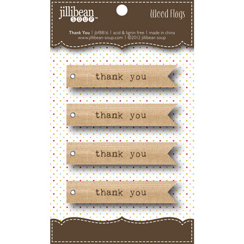 Jillibean Soup - Wooden Flags - Thank You
