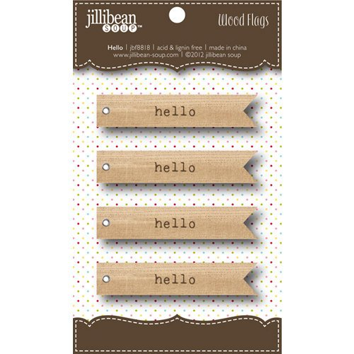 Jillibean Soup - Wooden Flags - Hello