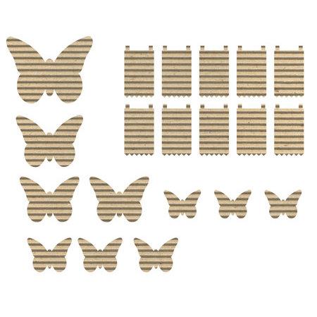 Jillibean Soup - Corrugated Shapes Collection - Butterflies