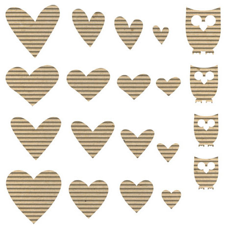 Jillibean Soup - Corrugated Shapes Collection - Hearts