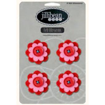 Jillibean Soup - Felt Flowers - Red