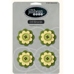 Jillibean Soup - Felt Flowers - Green