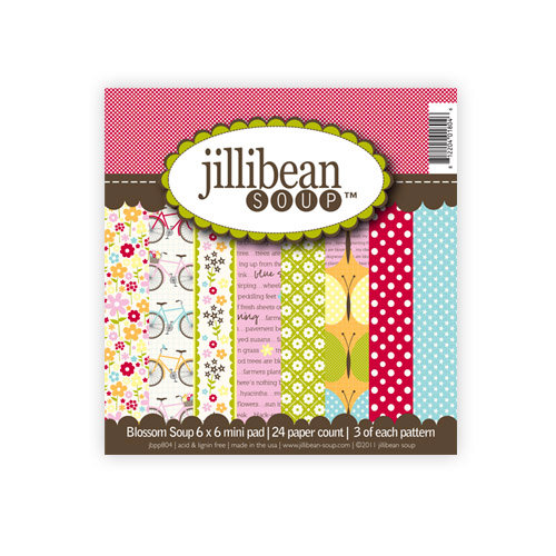 Jillibean Soup - Blossom Soup Collection - 6 x 6 Paper Pad
