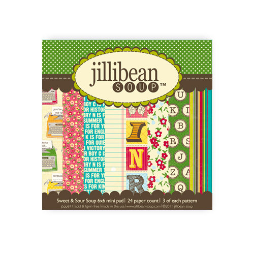 Jillibean Soup - Sweet and Sour Soup Collection - 6 x 6 Paper Pad