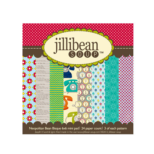 Jillibean Soup - Neopolitan Bean Bisque Collection - 6 x 6 Paper Pad
