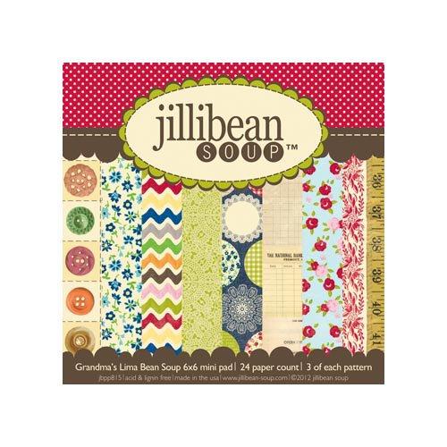 Jillibean Soup - Grandma's Lima Bean Soup Collection - 6 x 6 Paper Pad