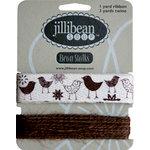 Jillibean Soup - Bean Stalks Collection - Ribbon - Birds