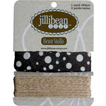 Jillibean Soup - Bean Stalks Collection - Ribbon - Twill Polkas
