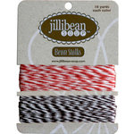 Jillibean Soup - Bean Stalks Collection - Bakers Twine - Red and Brown