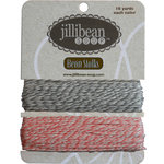 Jillibean Soup - Bean Stalks Collection - Bakers Twine - Gray and Light Pink