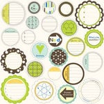 Jillibean Soup - Atomic Soup Collection - Mixed Cardstock Pieces - Journaling Sprouts