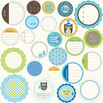 Jillibean Soup - Spotted Owl Soup Collection - Mixed Cardstock Pieces - Journaling Sprouts