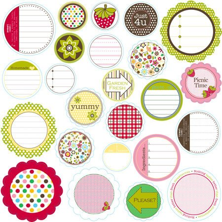Jillibean Soup - Chilled Strawberry Soup Collection - Mixed Cardstock Pieces - Journaling Sprouts