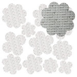 Jillibean Soup - Canvas Flowers - Brown Letters, CLEARANCE