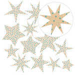 Jillibean Soup - Canvas Stars - Orange Graph, CLEARANCE