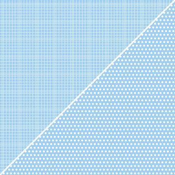 Jillibean Soup - Soup Staples Collection - 12 x 12 Double Sided Paper - Light Blue Sugar