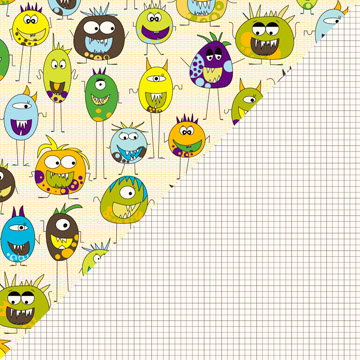 Jillibean Soup - Monster Stew Collection - 12 x 12 Double Sided - Bunch of Monsters, CLEARANCE