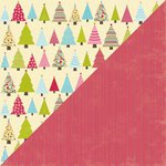 Jillibean Soup - Christmas Eve Chowder Collection - 12 x 12 Double Sided Paper - Boiling Water