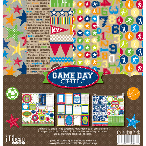Jillibean Soup - Game Day Chili Collection - 12 x 12 Collection Kit