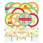 Jillibean Soup - Party Playground Collection - Cupcake Toppers - Birthday