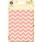 Jillibean Soup - Party Playground Collection - Favor Bags - Cotton Candy Pink Chevron