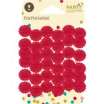 Jillibean Soup - Party Playground Collection - Pom Pom Garland - Red Hot Red