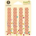 Jillibean Soup - Party Playground Collection - Clothespins - Red Hot Red Dot