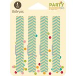Jillibean Soup - Party Playground Collection - Clothespins - Rock Candy Blue Herringbone
