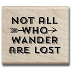 Jillibean Soup - Wood Mounted Stamps - Not All Who Wander