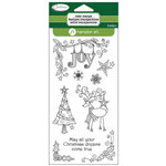Hampton Art - Clear Acrylic Stamps - Christmas - Reindeer Joy