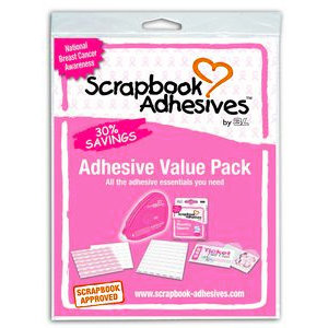 3L Scrapbook Adhesives - Adhesive Value Pack - National Breast Cancer Awareness, CLEARANCE