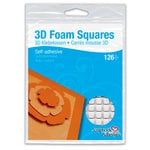 3L - Scrapbook Adhesives - 3D Foam Squares - 126 each