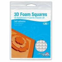 3L - Scrapbook Adhesives - 3D Foam Squares - 126 each