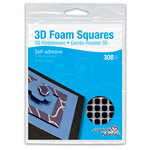 3L - Scrapbook Adhesives - 3D Small Foam Squares - Black