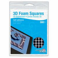 3L - Scrapbook Adhesives - 3D Small Foam Squares - Black