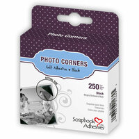 3L - Scrapbook Adhesives - Photo Corners - Black 250 per box