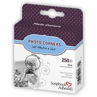 3L - Scrapbook Adhesives - Photo Corners - Clear 250 per box