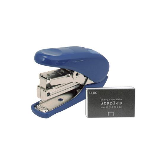 Plus Corporation - No. 10 Power-Assisted Stapler - Blue