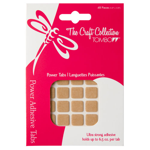 Tombow - The Craft Collection - Adhesive Power Tabs - Permanent - Squares