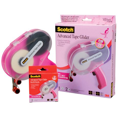 Scotch ATG - Adhesive Applicator Gun - Pink - Uses One Fourth Inch Adhesive